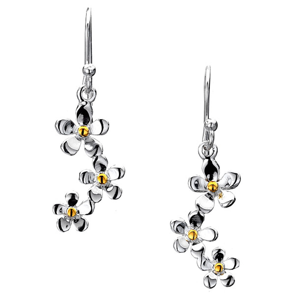 Pure Origins Triple Daisy Drop Earrings