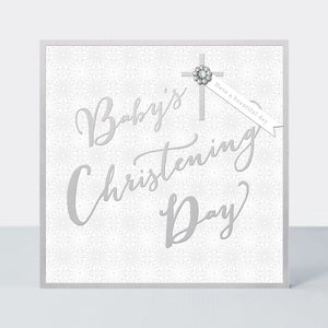 Quartz Baby Christening Day Card