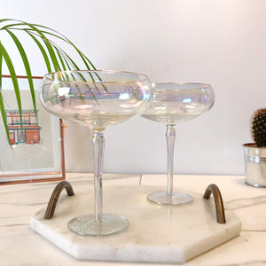 Root 7 Iridescent Martini Glasses Set of 2