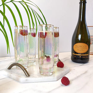 Root 7 Iridescent Stemless Prosecco Glasses Set of 4