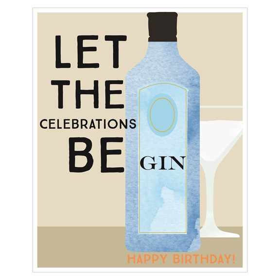Sasparilla Let The Celebrations Be Gin Card