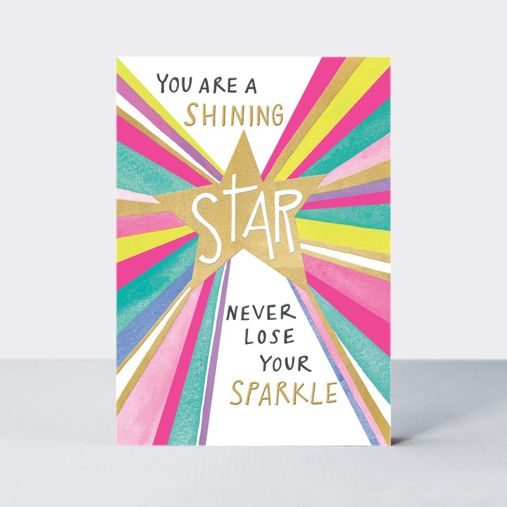 Shine- You are a shining star card