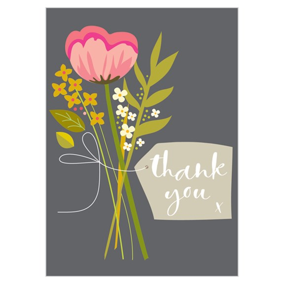 Set of 8 Thank You cards - Flower Bunch