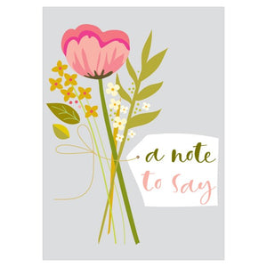 Set of 8 cards - A note to say