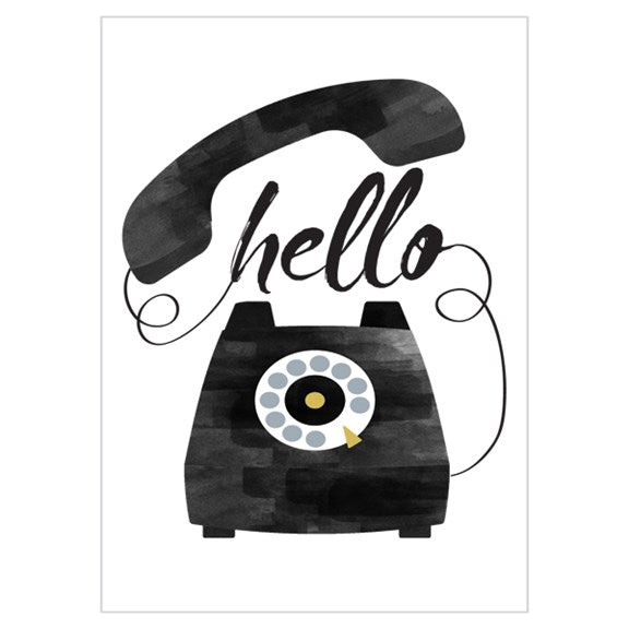 Set of 8 cards - Hello