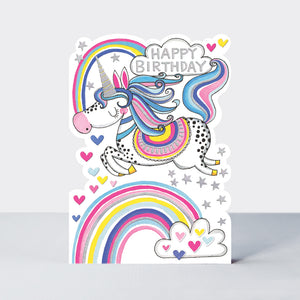 Star Jumps - Happy Birthday Unicorn Card