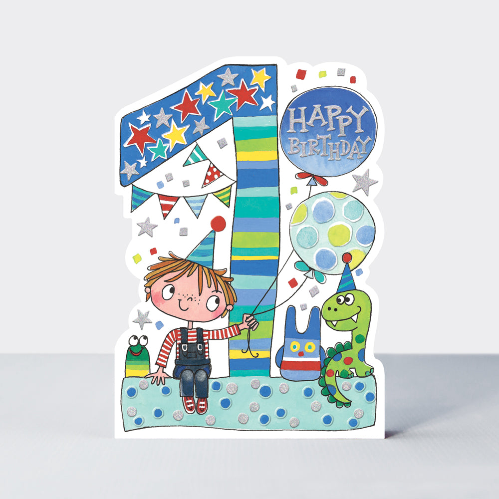 Star Jumps - Age 1 Boy & Toys Card