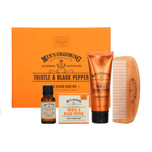 Thistle and Black Pepper Mens Grooming Face & Beard Care Kit | More Than Just at Gift | Narborough Hall