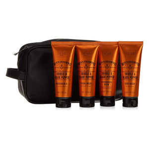 Thistle and Black Pepper Mens Grooming Travel Wash Bag | More Than Just at Gift | Narborough Hall