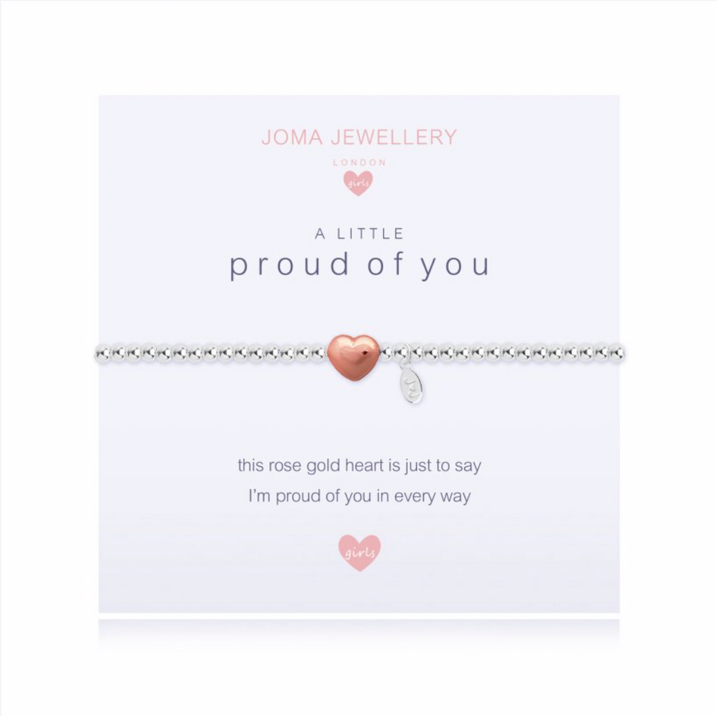 Joma Girls a little Proud of You Bracelet - heart | More Than Just A Gift