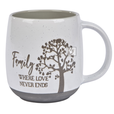 Family Where Love Never Ends Mug