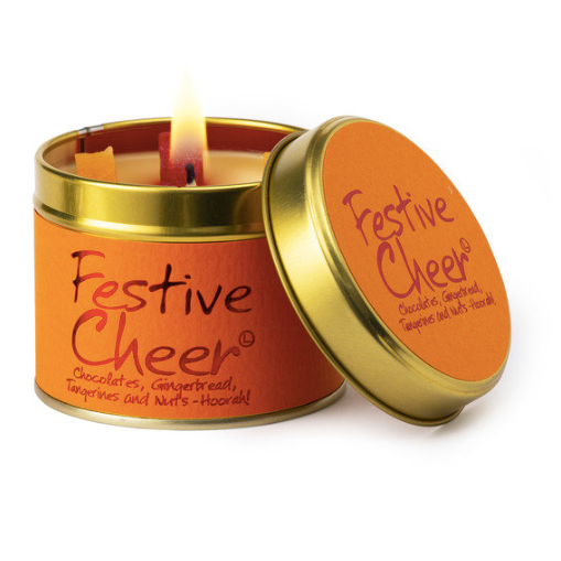 Lily-flame Festive Cheer Candle Tin