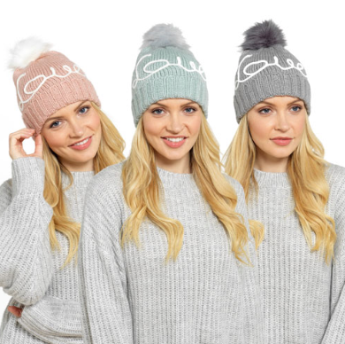 Love Pastel Bobble Hat
