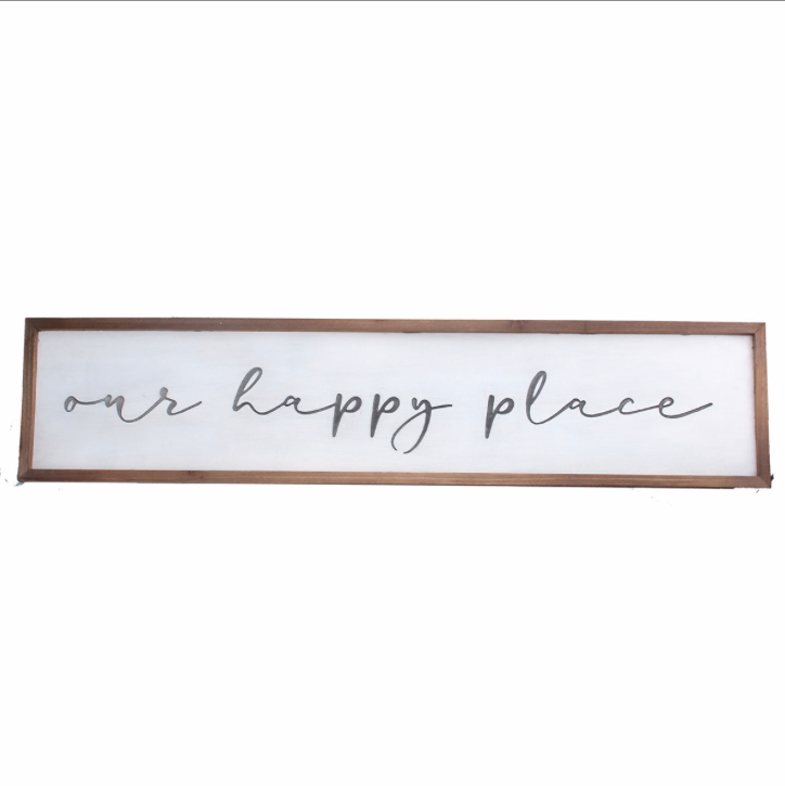 Our Happy Place Large Wall Plaque