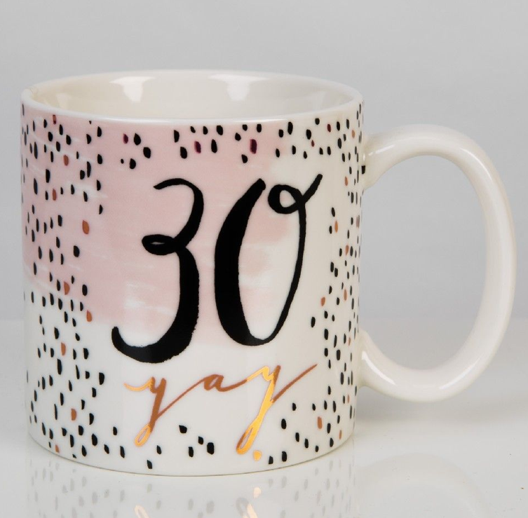 Luxe 30th Birthday Mug
