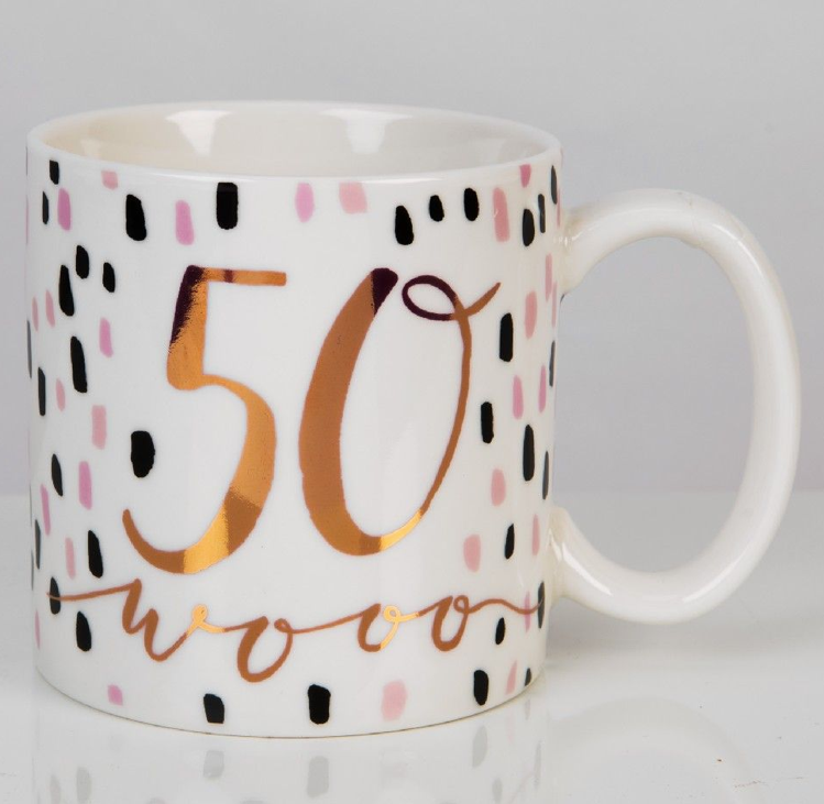 Luxe 50th Birthday Mug