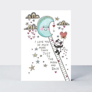 TLC Love You To The Moon/ Panda Card