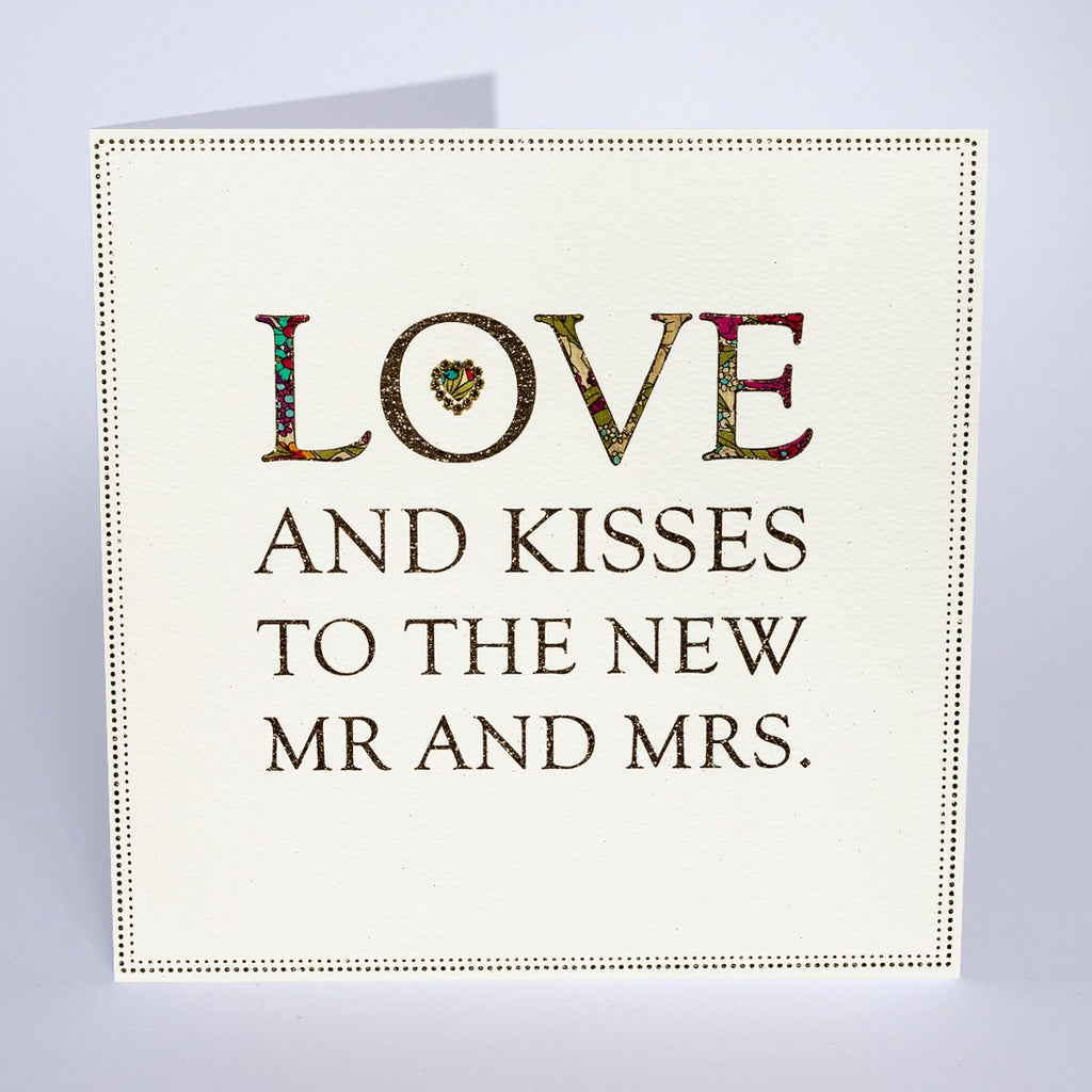 Extra Large Love & Kisses Wedding Card