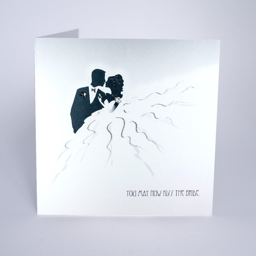 Return to Romance Kiss the Bride Wedding Card