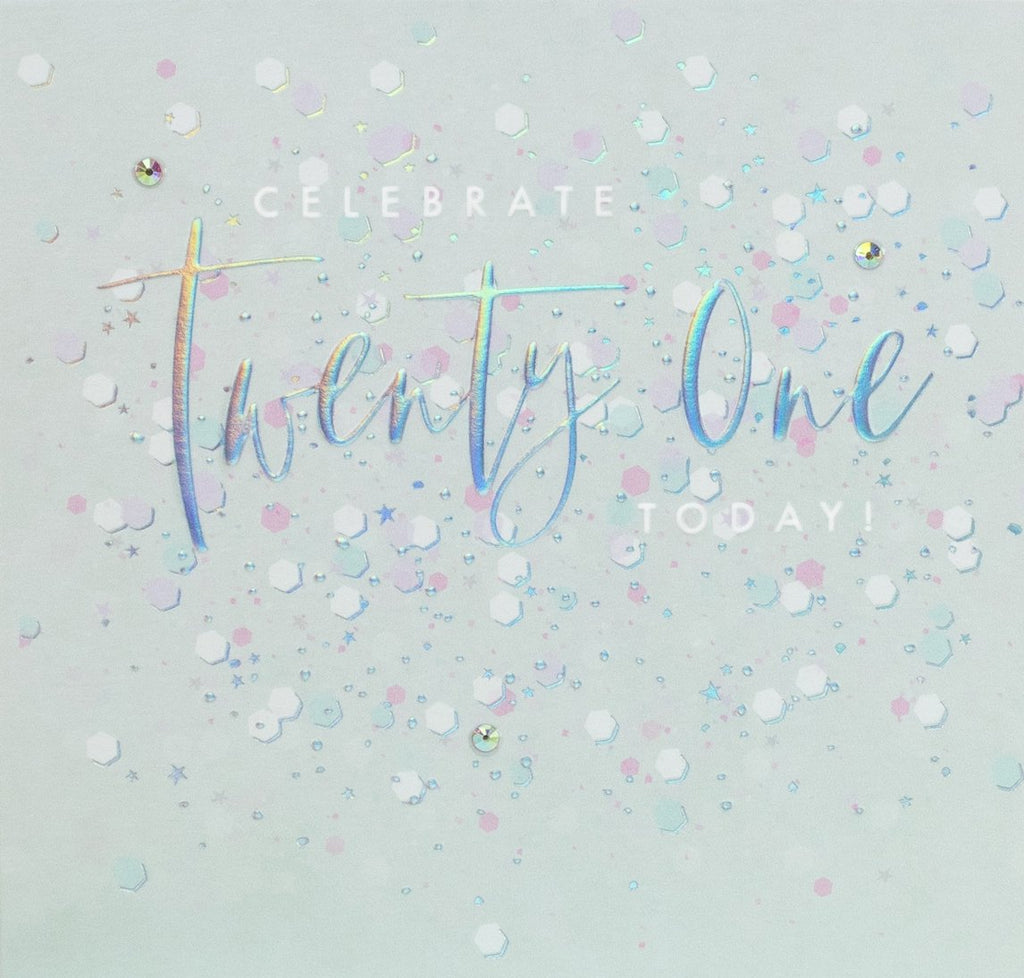 Aurora - Celebrate Twenty-One Card |More Than Just A Gift