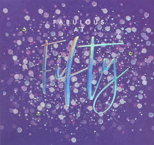 Aurora - Fabulous Fifty Card |More Than Just A Gift