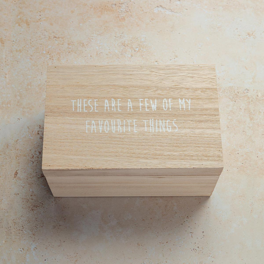 Wooden Favourite Things Box