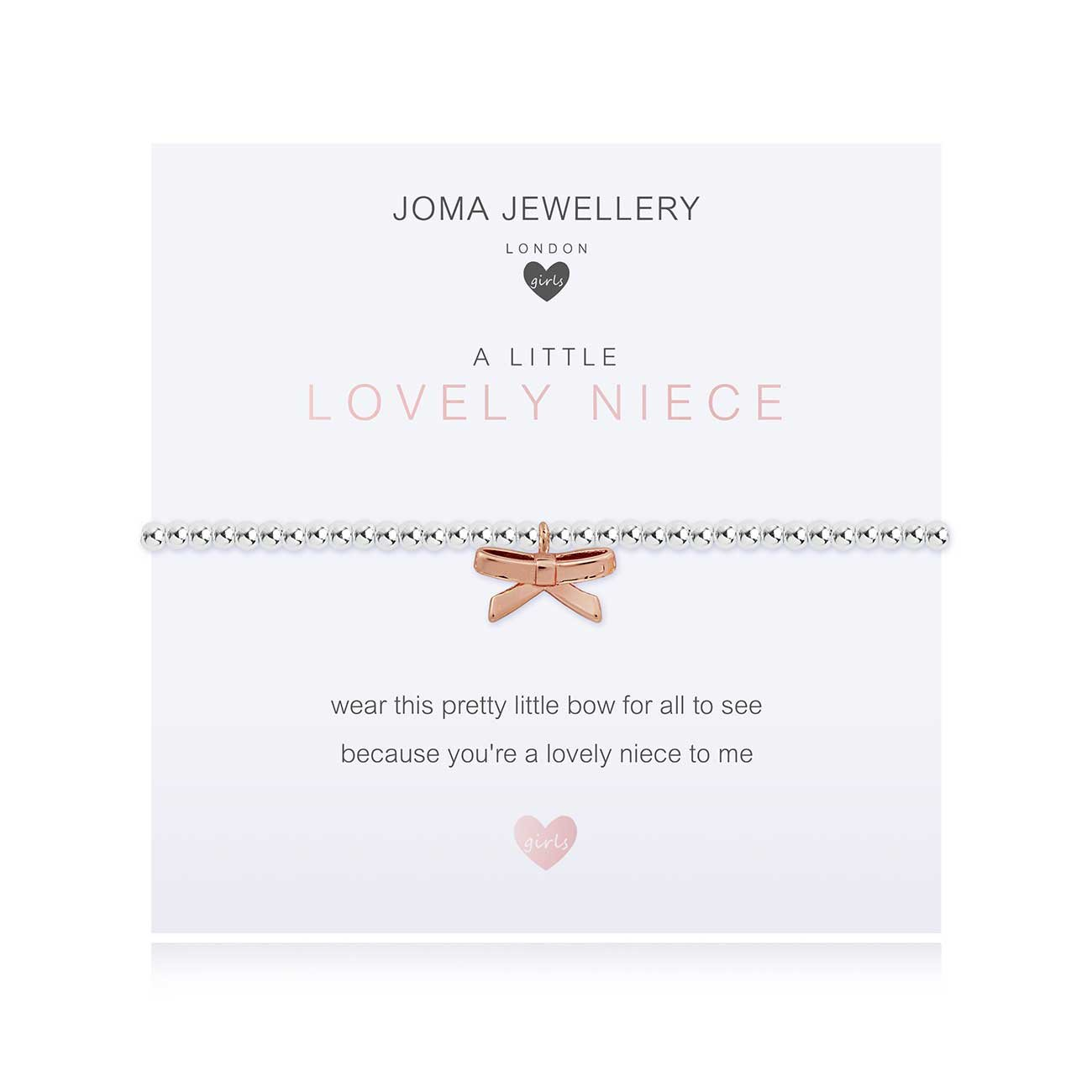 Joma Jewellery Children's a little Lovely Niece Bracelet | More Than Just A Gift | Authorised Joma Jewellery Stockist| More Than Just A Gift