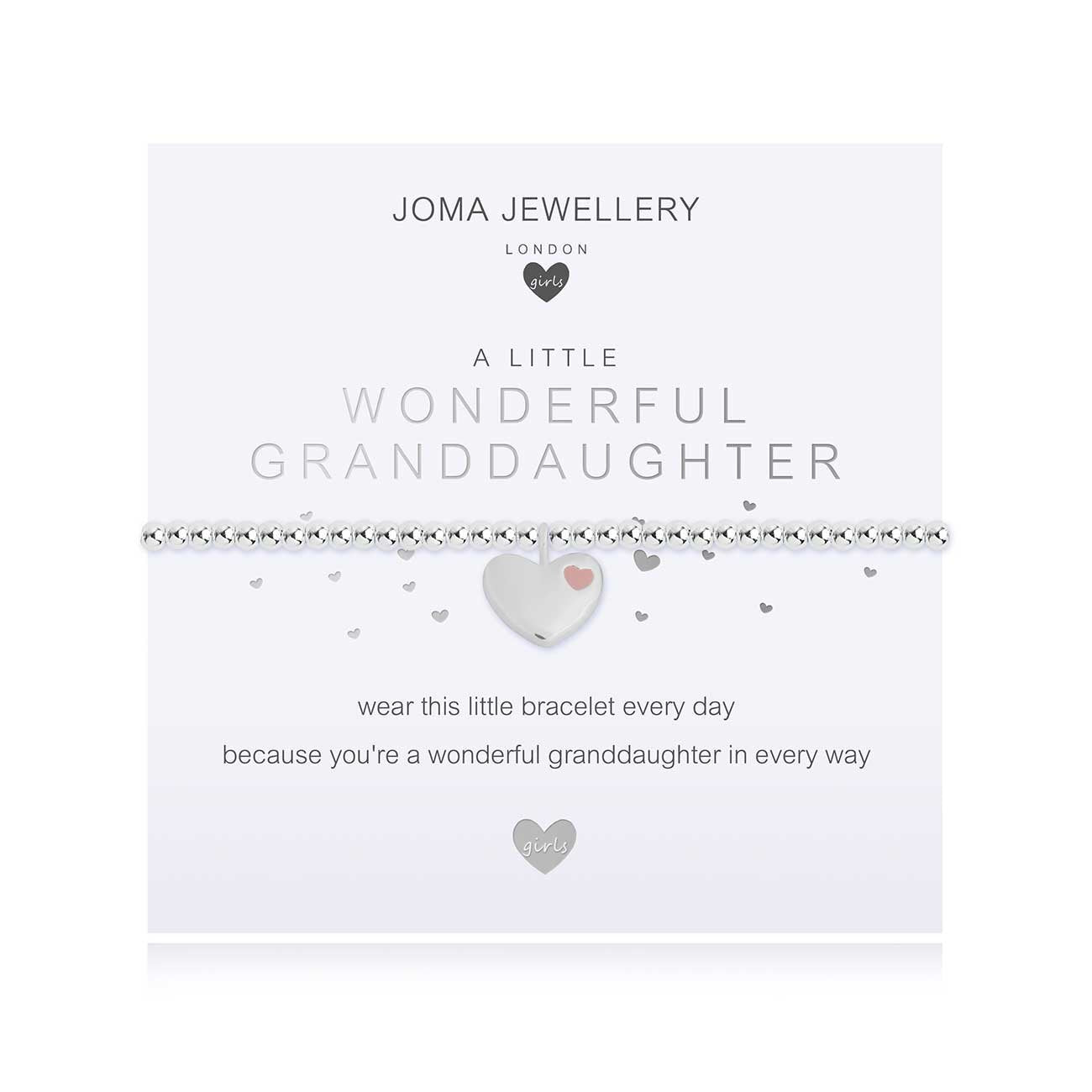 Joma Jewellery Children's a little Wonderful Granddaughter Bracelet | More Than Just A Gift | Authorised Joma Jewellery Stockist| More Than Just A Gift