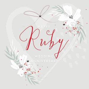 Callista Ruby Wedding Card