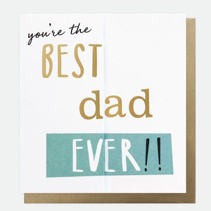 You're The Best Dad Ever Concertina Message Card