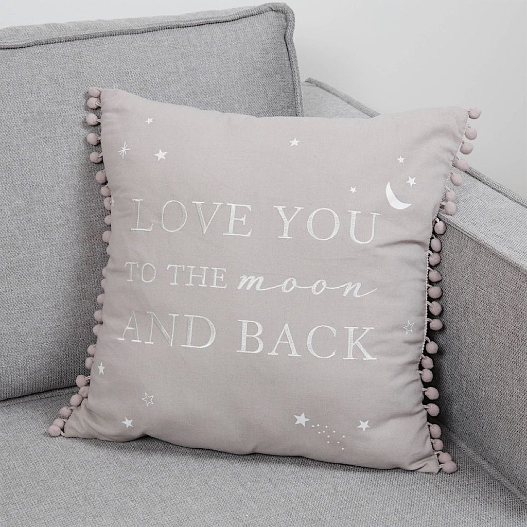 Love You To The Moon & Back Linen Cushion