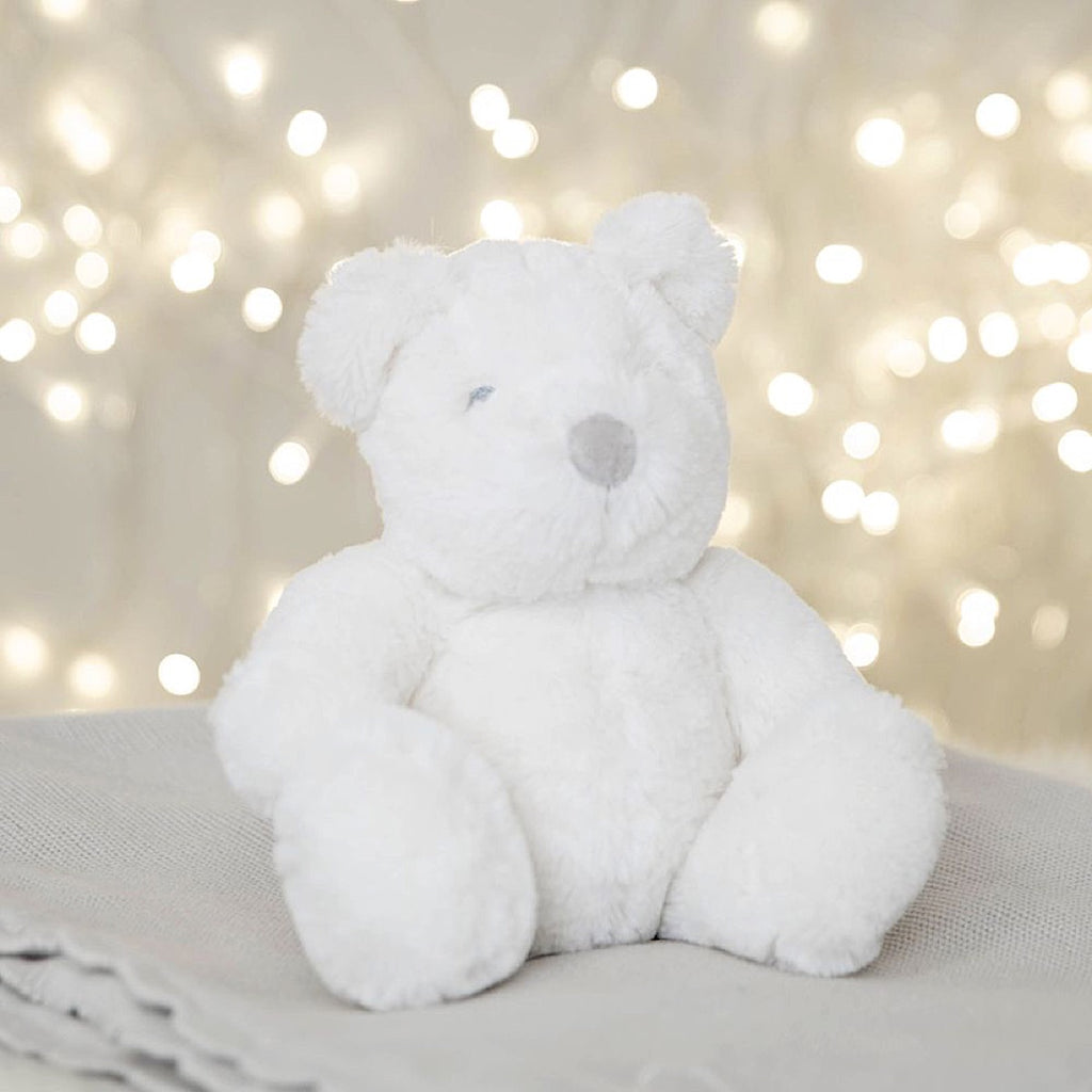 Bambino White Plush Bear 18cm