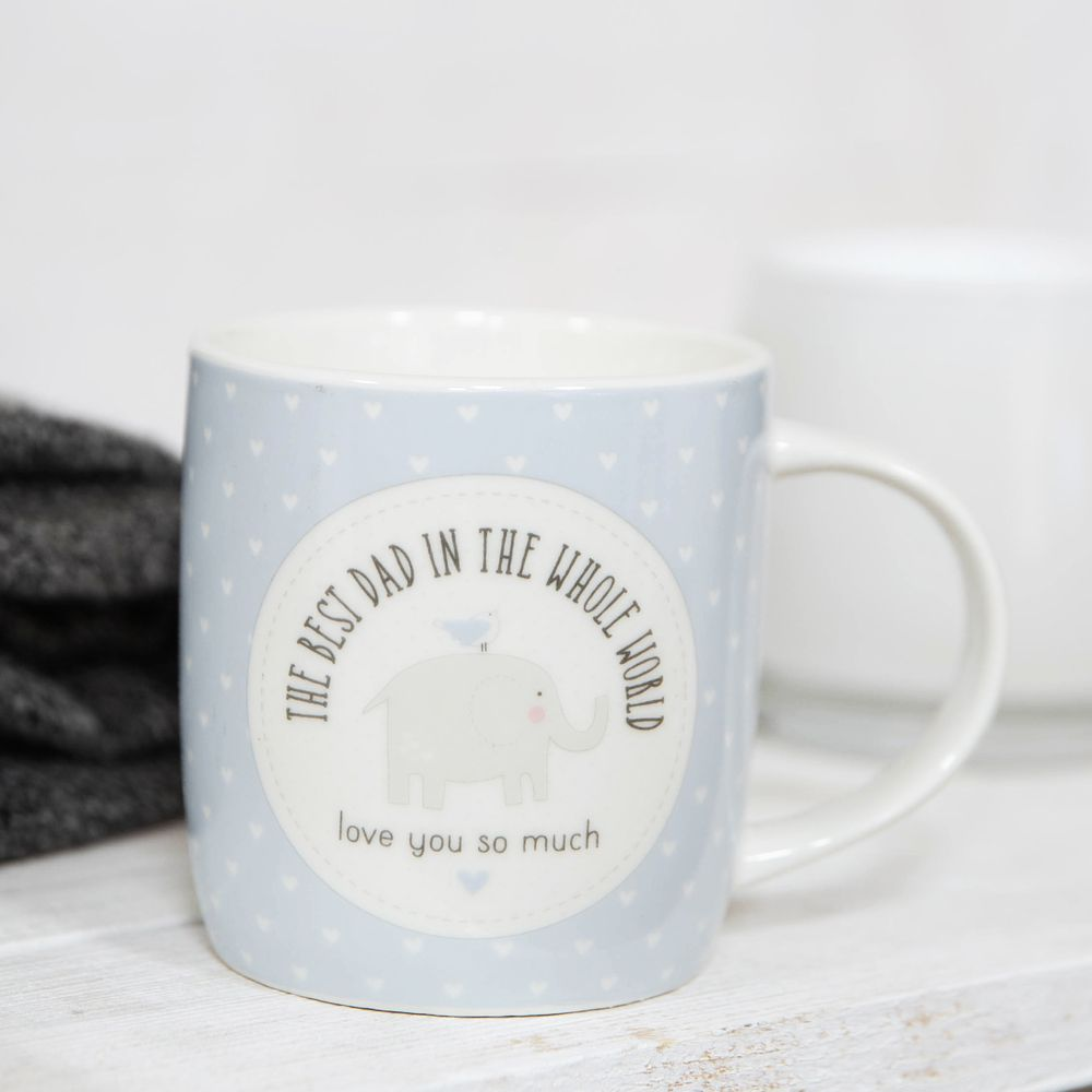 Petit Cheri The Best Dad In The World Mug - Blue