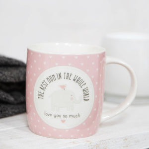 Petit Cheri The Best Mum In The Whole World Mug - Pink