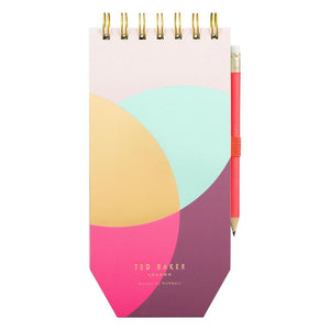 Ted Baker Spiral Bound Jotter with Pencil Colour By Numbers