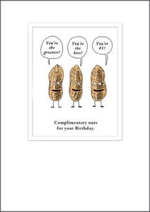 Etched Complimentary Nuts Birthday Card