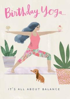 Hey Girl Birthday Yoga Card