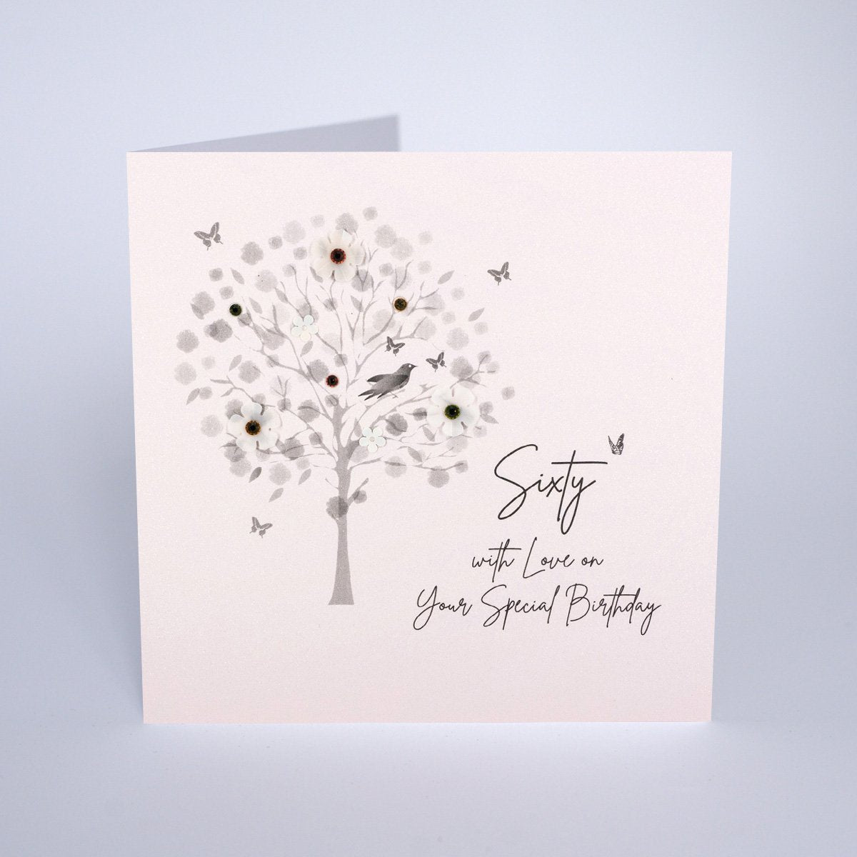 Diamond Blush - Sixty Birthday Card