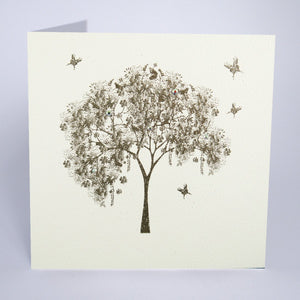 Secret Garden Tree Blank Card