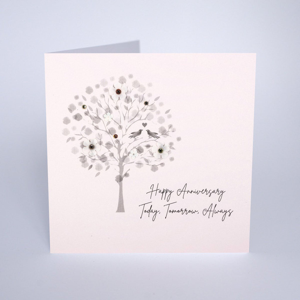 Diamond Blush - Happy Anniversary Tree Card