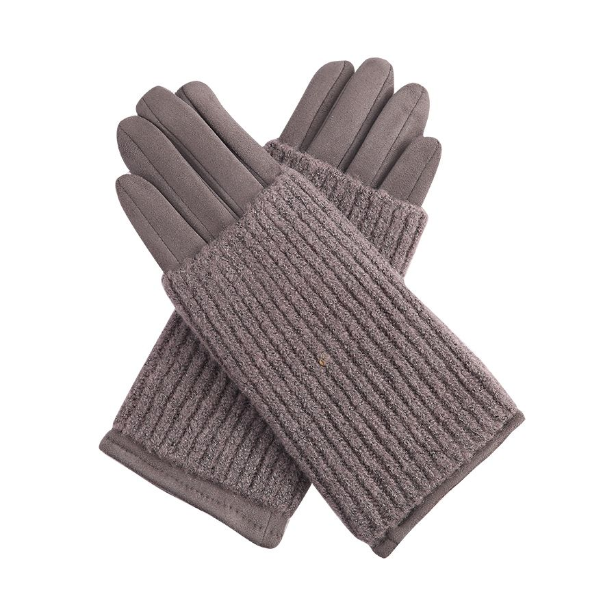 Grey Gloves With Wrist Warmers