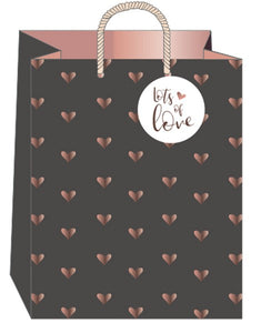 Art File Hearts & Kisses Large Gift Bag