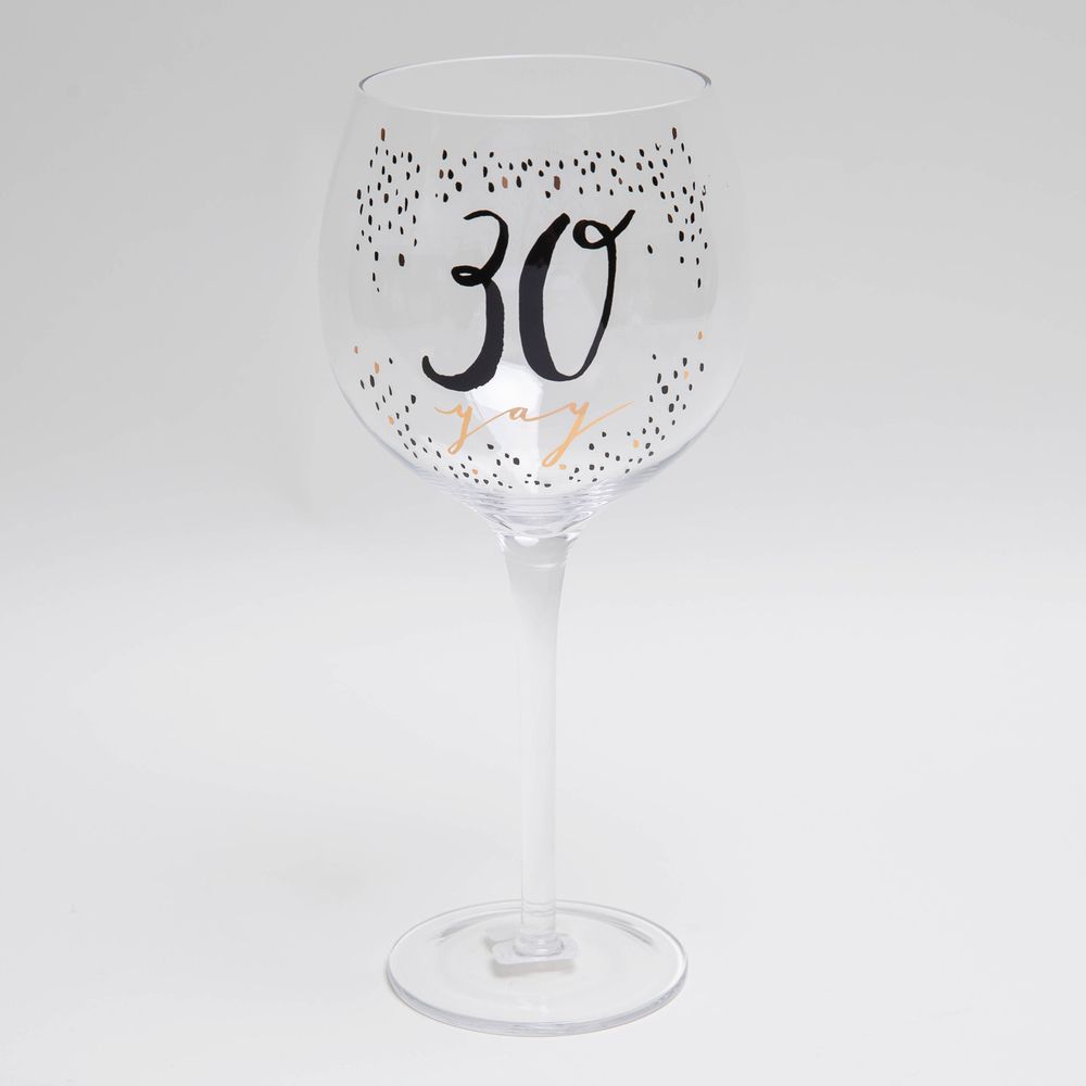Luxe 30th Gin Glass
