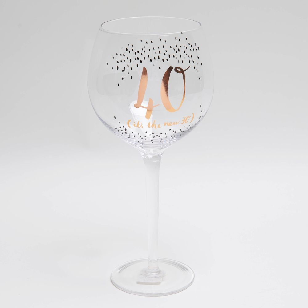 Luxe 40th Gin Glass