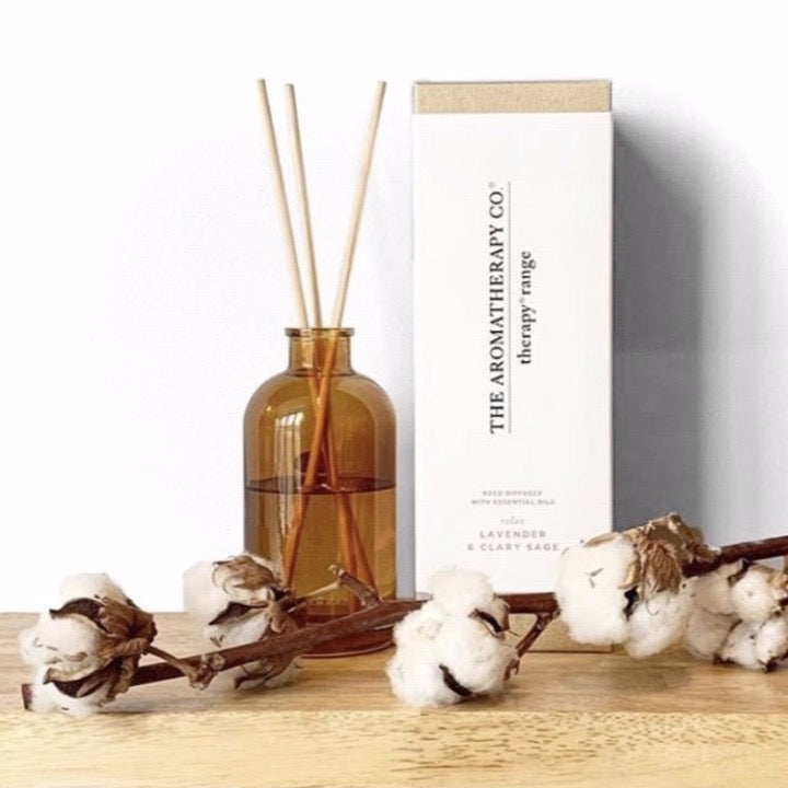 The Aromatherapy Co Therapy Range Relax Lavender & Clary Sage Reed Diffuser