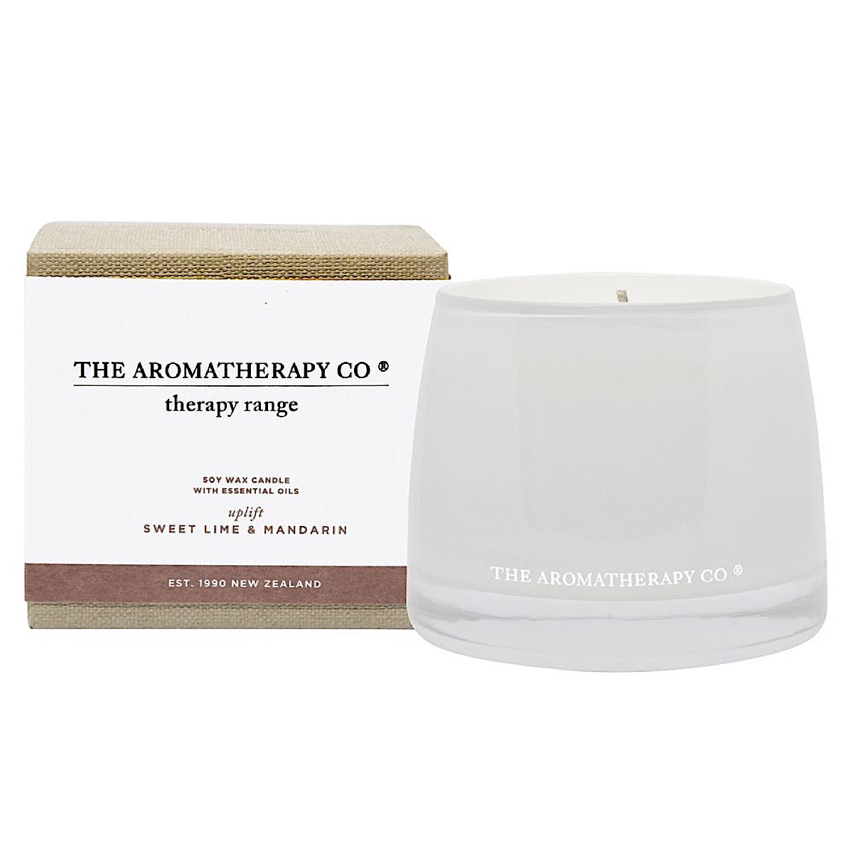 The Aromatherapy Co Therapy Range Uplift Lime & Mandarin Candle at More Than Just A Gift