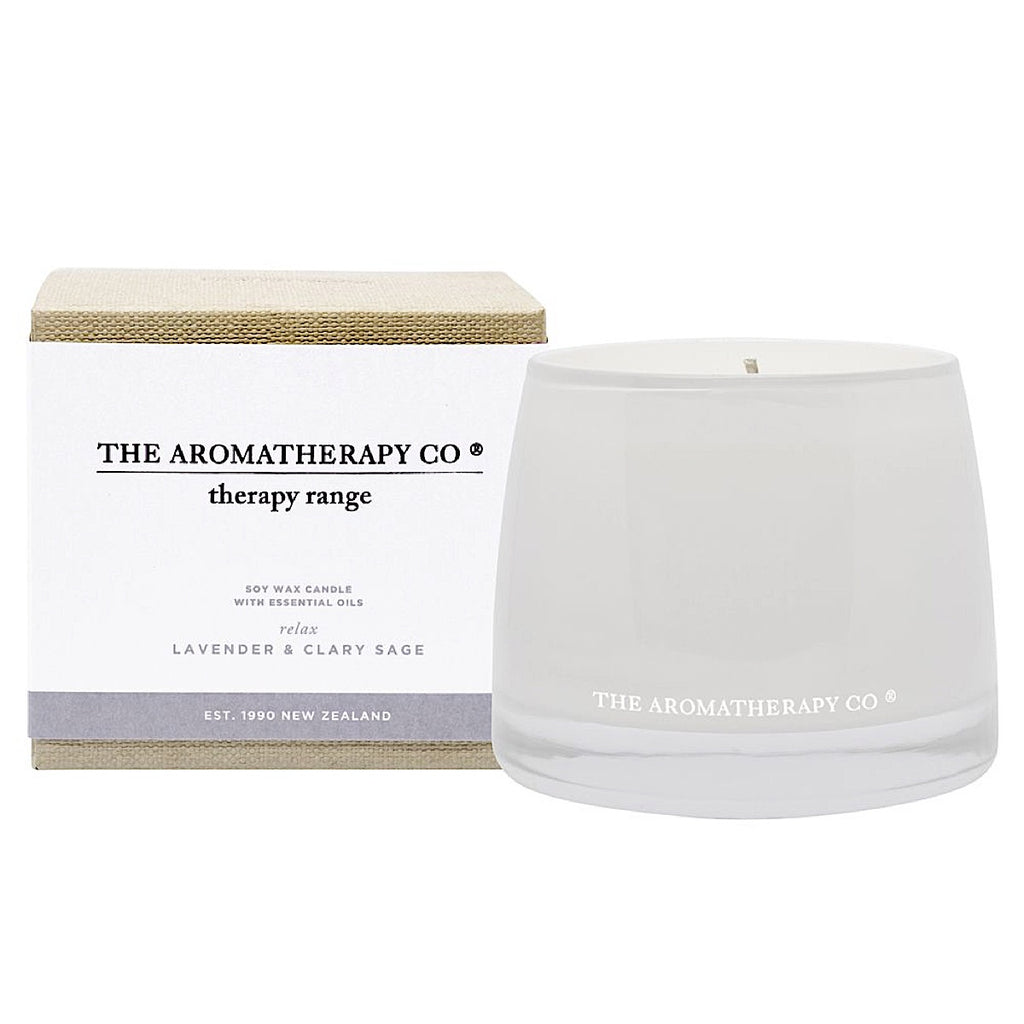 The Aromatherapy Co The Aromatherapy Co Therapy Range Relax Lavender & Clary Sage Candle at More Than Just A Gift