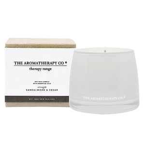 The Aromatherapy Co Therapy Range Strength Sandalwood & Cedar Candle at More Than Just A Gift