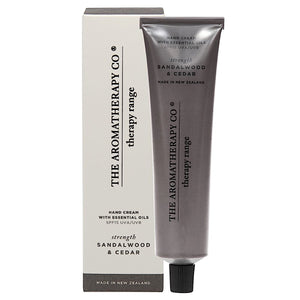 The Aromatherapy Co The Aromatherapy Co Therapy Range Strength Sandalwood & Cedar Hand Cream Tube at More Than Just A Gift