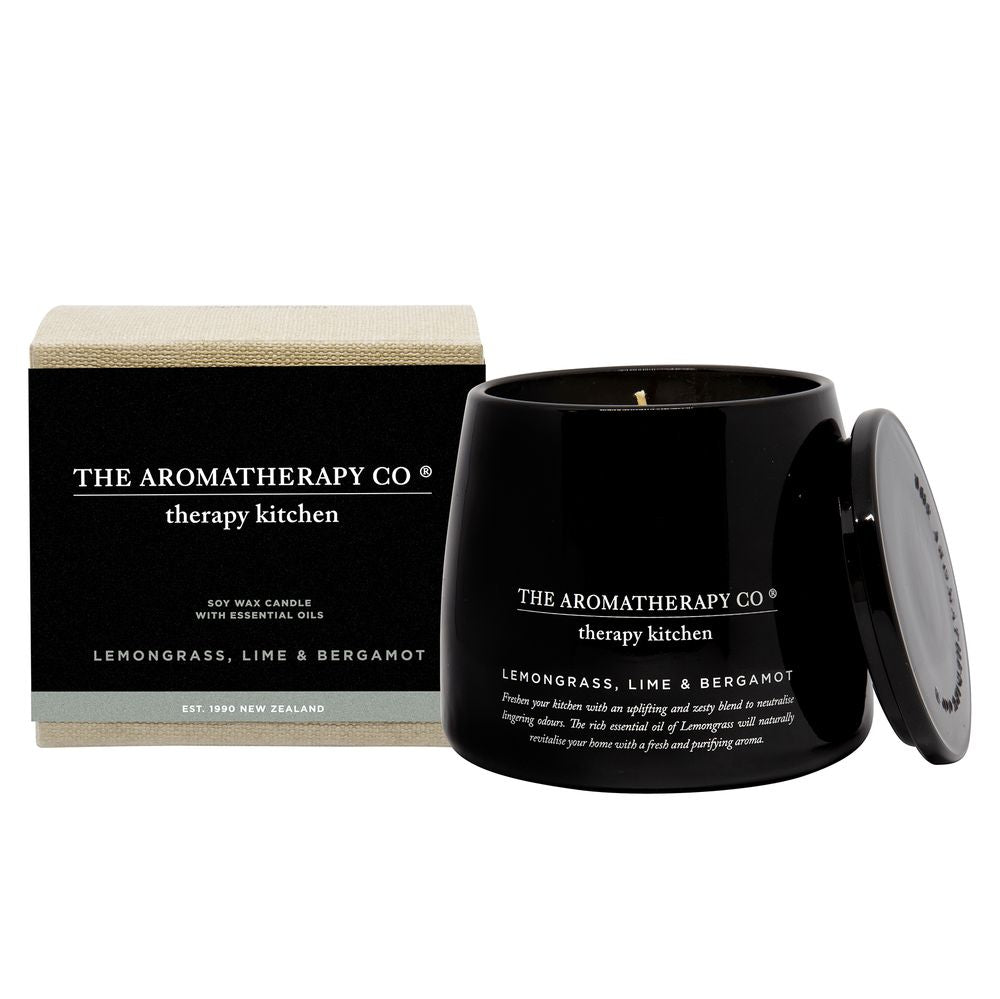 The Aromatherapy Co The Aromatherapy Co Therapy Kitchen Lemongrass,Lime & Bergamot Candle at More Than Just A Gift